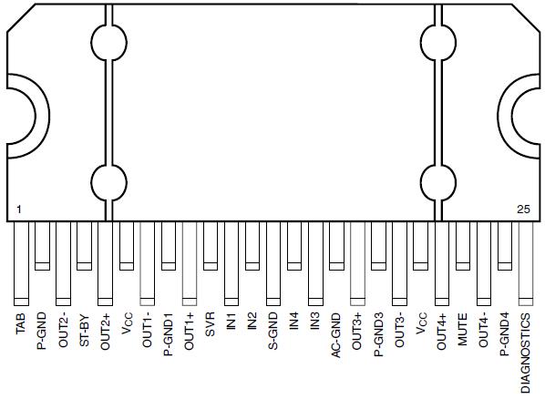 Tda7388 схема магнитола